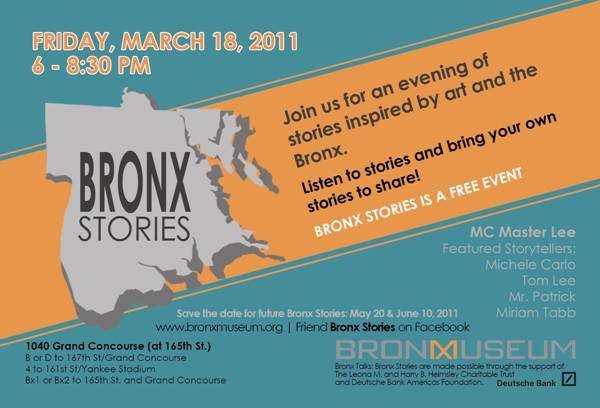 Bronx Stories at the Bronx Museum-FREE Event