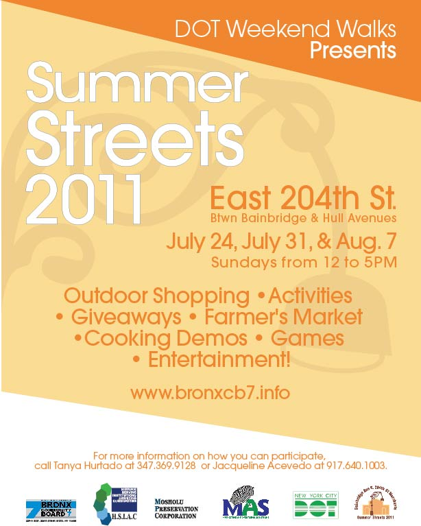 DOT Summer Streets Weekend Walks Program 2011
