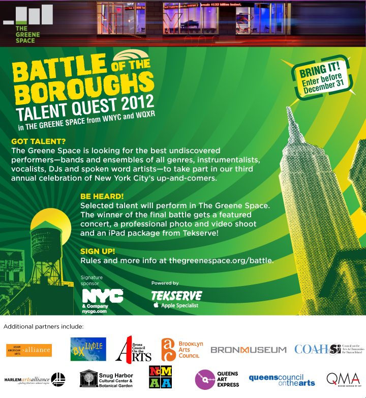 Battle of the Boroughs- Bronx Artists Sign Up Now!