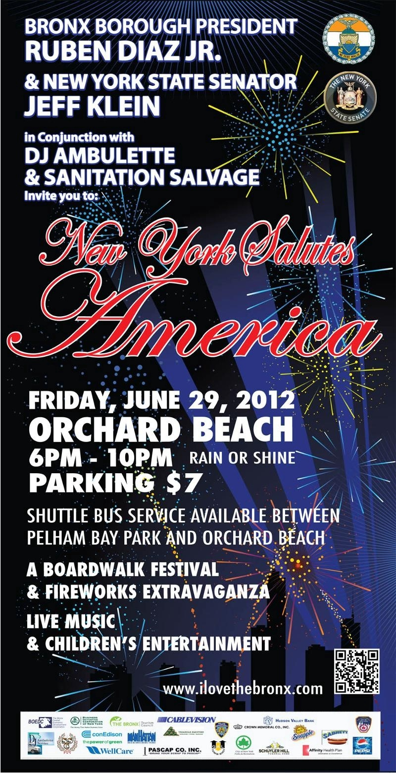 Orchard Beach Fireworks 2012