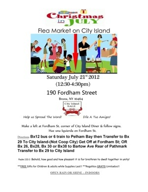 Indoor Christmas in July Flea Market-Tag Sale at City Island