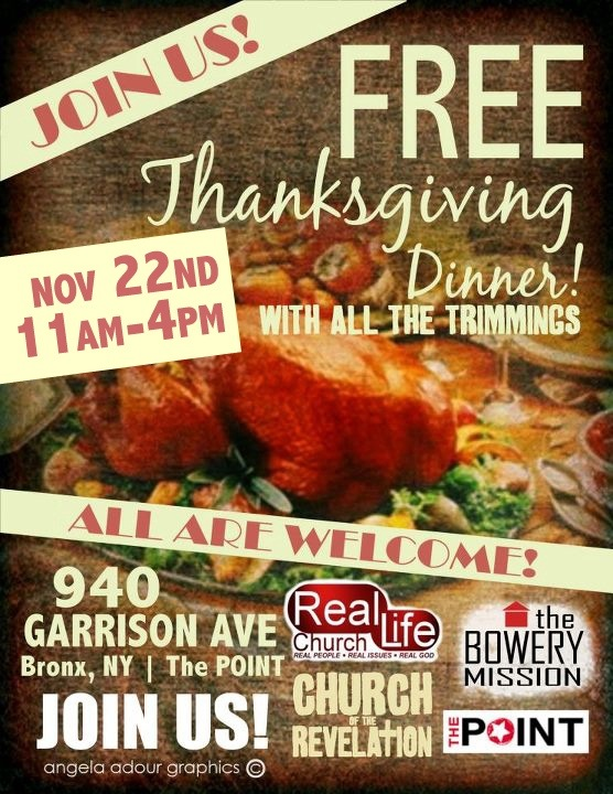 Volunteers needed for Thanksgiving dinner