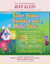 18th Annual Easter Bunny Breakfast and Magic Show