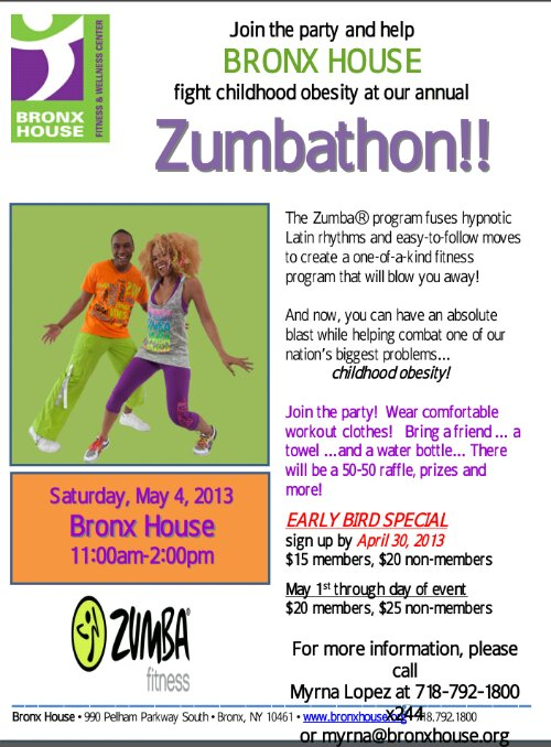 Zumbathon at Bronx House