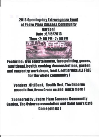 Opening Day at Padre Plaza Success Community Garden