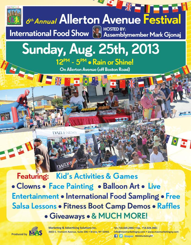 6th Annual Allerton Avenue Festival