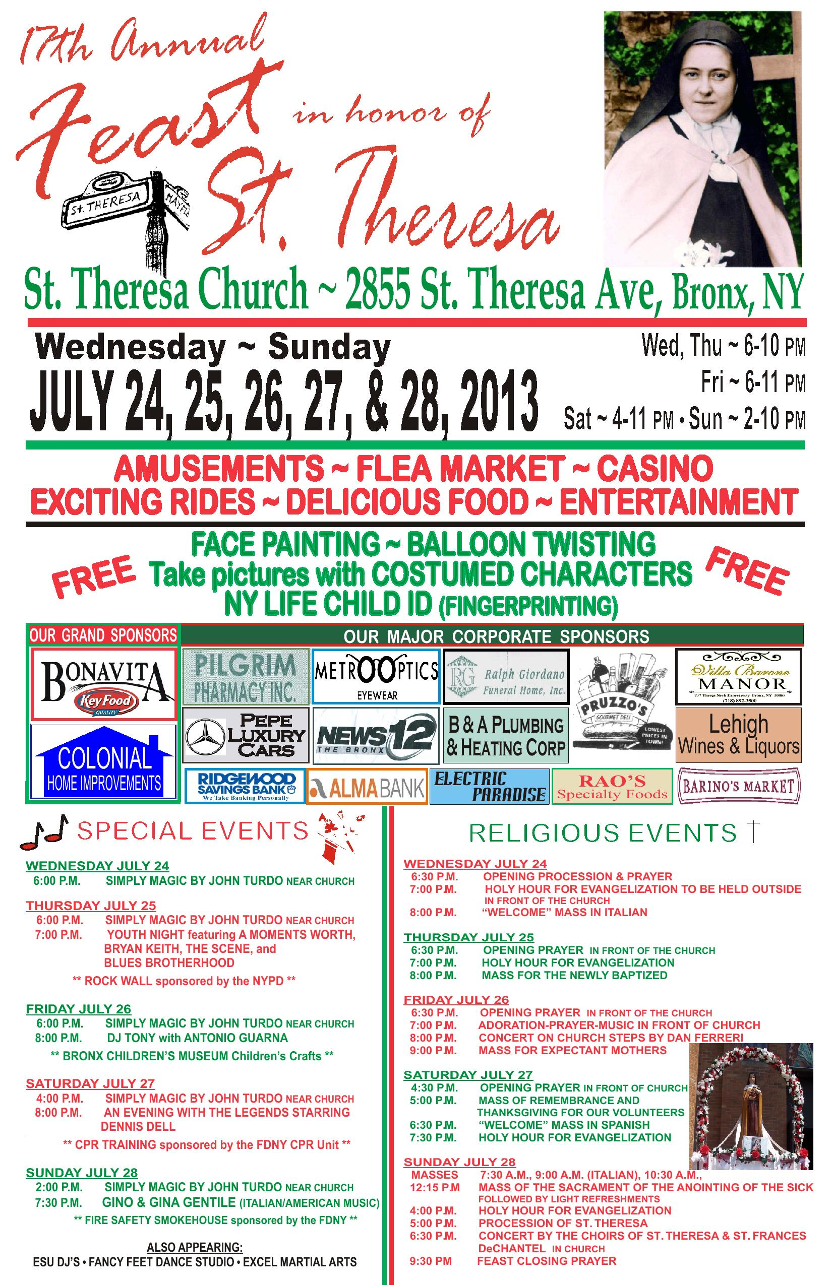 17 Annual St. Theresa Feast