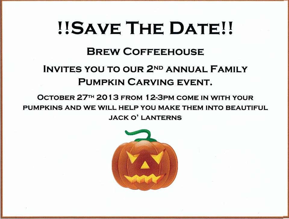 Pumpkin Carving Event at Brew Coffee House