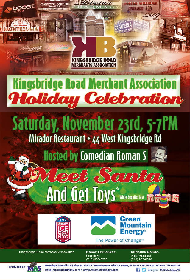 Kingsbridge Road 1st Annual Holiday Tree Lighting
