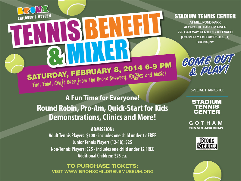 Bronx Children's Museum Tennis Benefit and Mixer