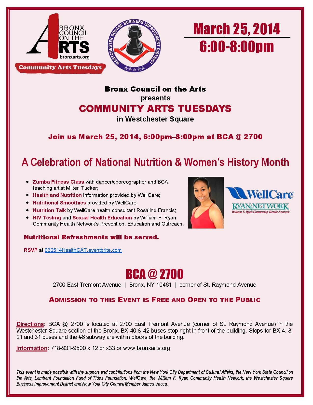 Community Arts Tuesday in Westchester Square