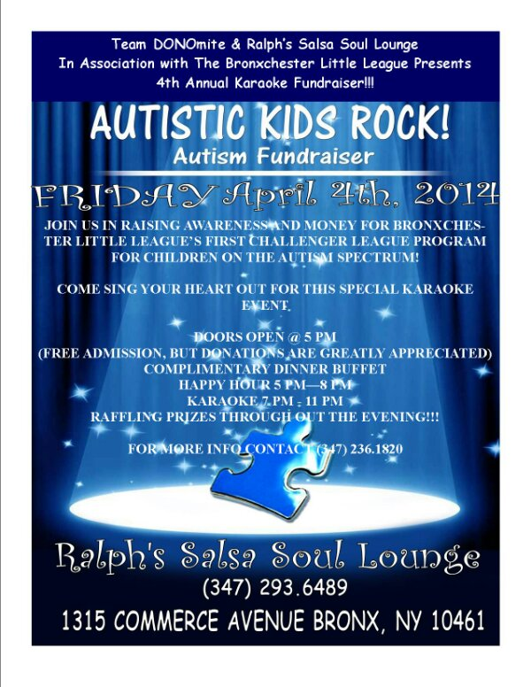Autistic Kids Rock Fundraiser and Zumba Event