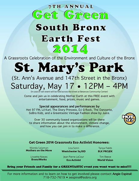 7th Annual Get Green: South Bronx Earth Fest