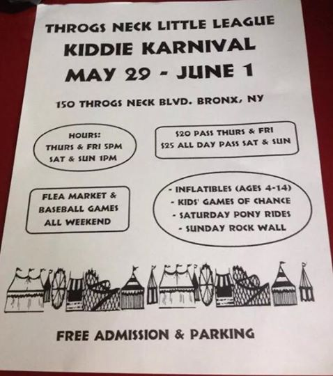 Throggs Neck Little League Kiddie Karnival