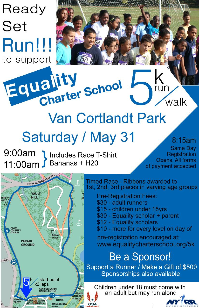Equality Charter School's 5k Fundraiser