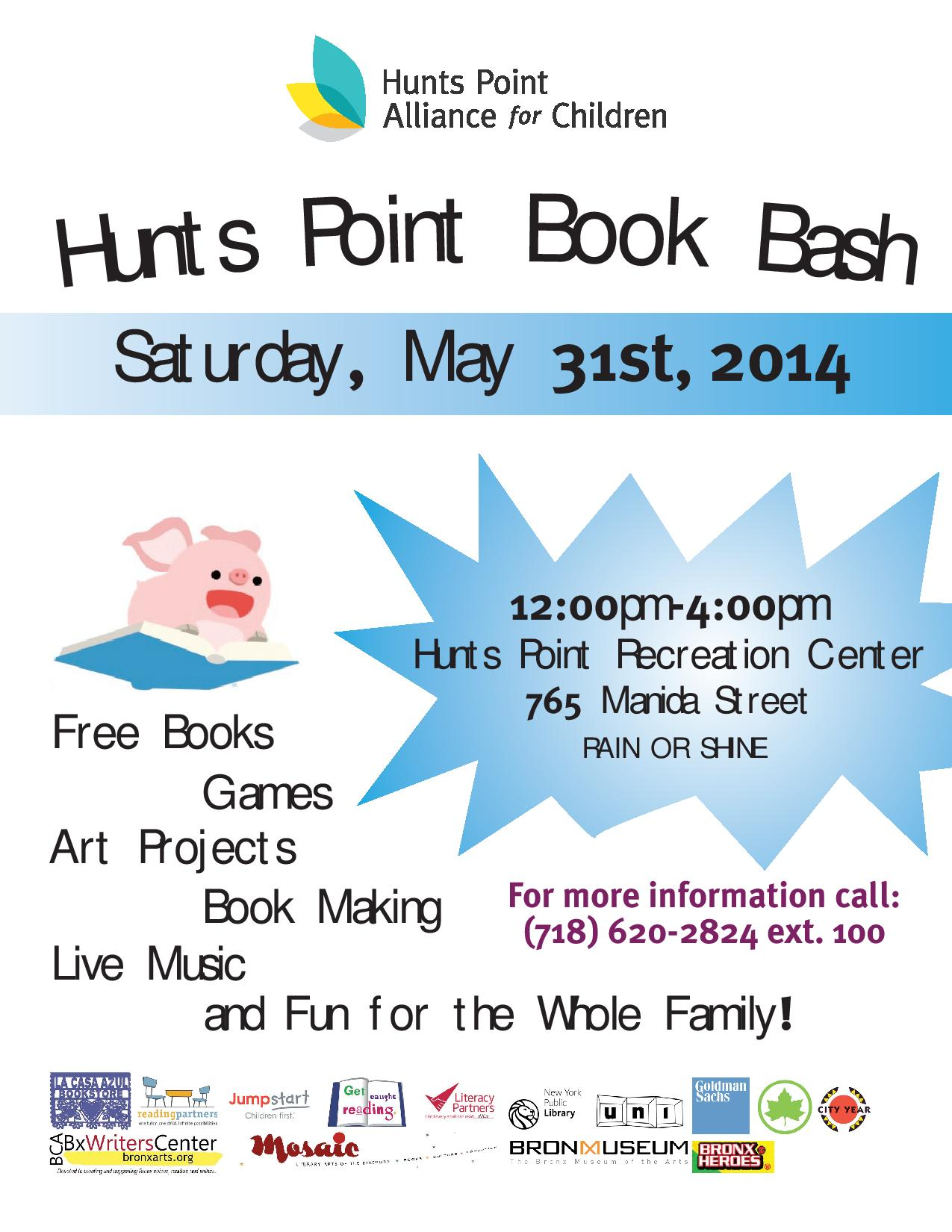 Hunts Point Book Bash