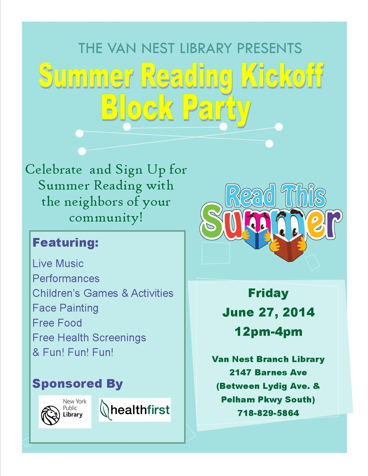 Summer Reading Kickoff Block Party