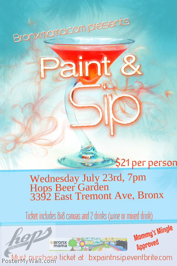 Paint and Sip at Hops Beer Garden