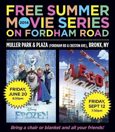 Free Summer Movie Series on Fordham Road