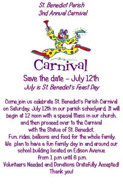 St. Benedict Parish 3rd Annual Carnival