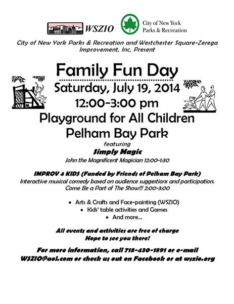 Family Fun Day in Pelham Bay Park
