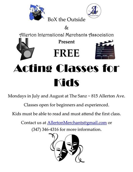 Free Acting Classes for Kids