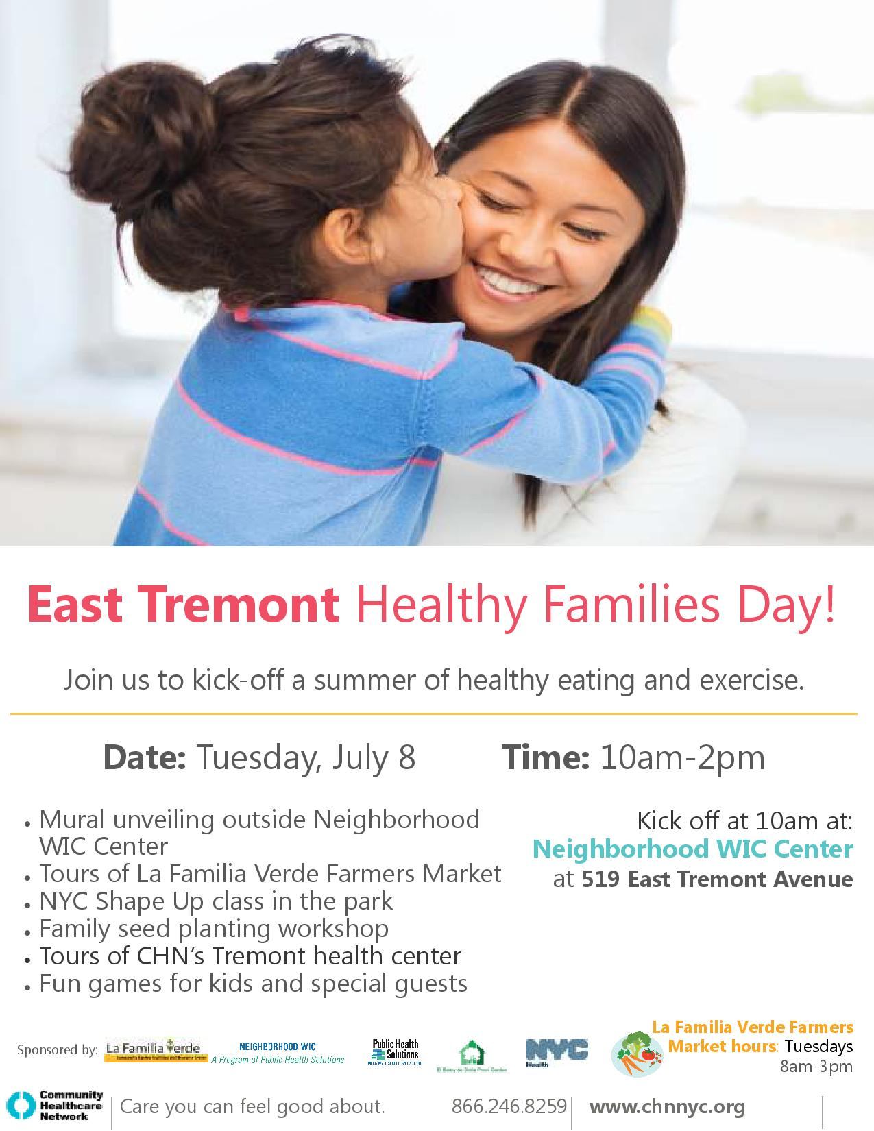 East Tremont Healthy Families Day