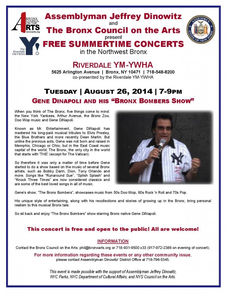 "Gene Dinapoli and his ""Bronx Bombers Show"""