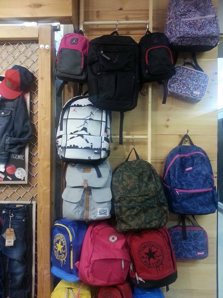 Check Out Some Of The Latest Gear From Levis Converse Jordan And Nike Including New Styles For Girls Our Fave A Bookbag With Attached