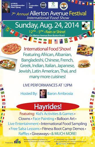 7th Annual Allerton Avenue Festival- International Food Show