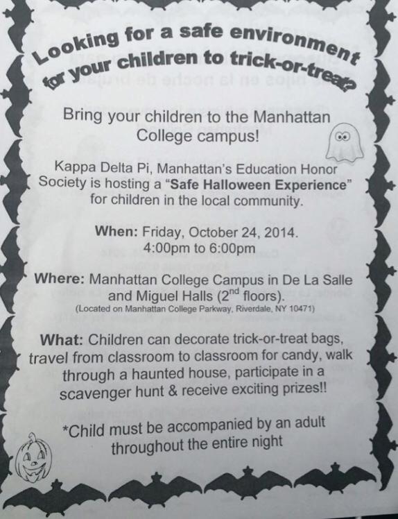 Safe Halloween Experience at Manhattan College