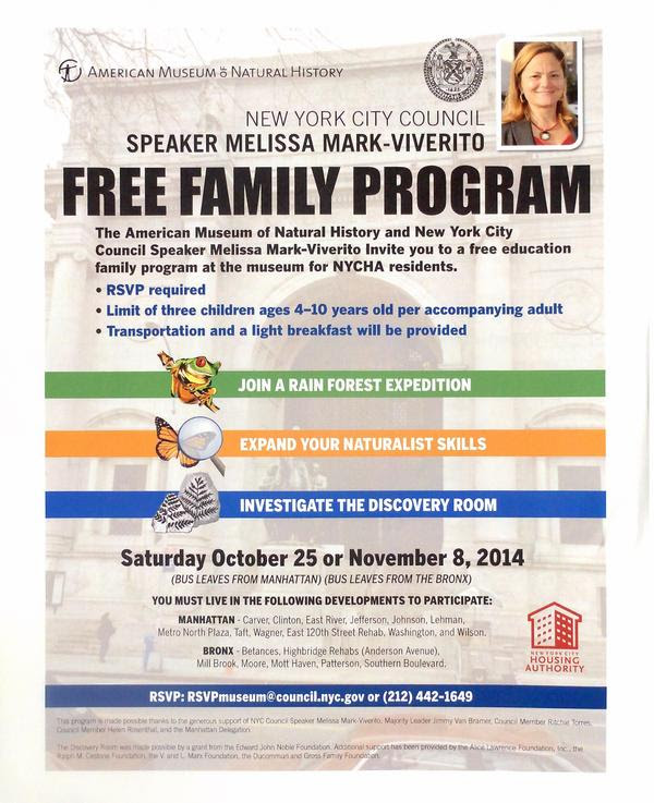 Free Family Program at AMNH for NYCHA Residents
