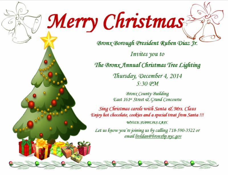 The Bronx Annual Christmas Tree Lighting