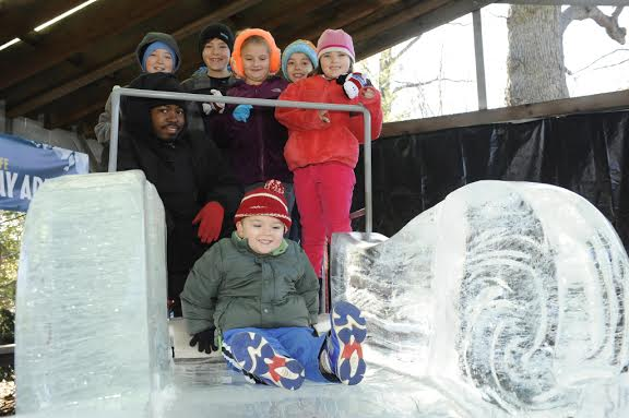 Salute to Wildlife Ice Carving Week at the Bronx Zoo