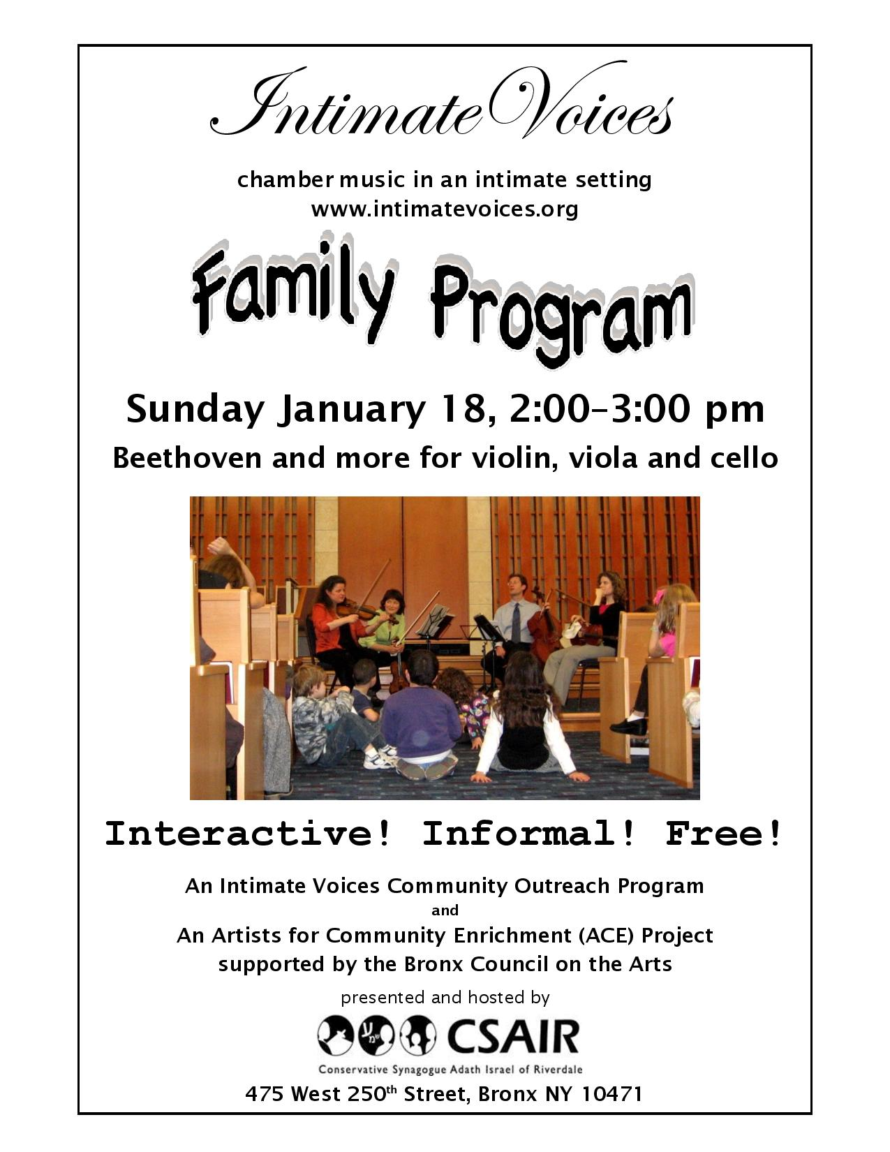 Free Family Concert in Riverdale
