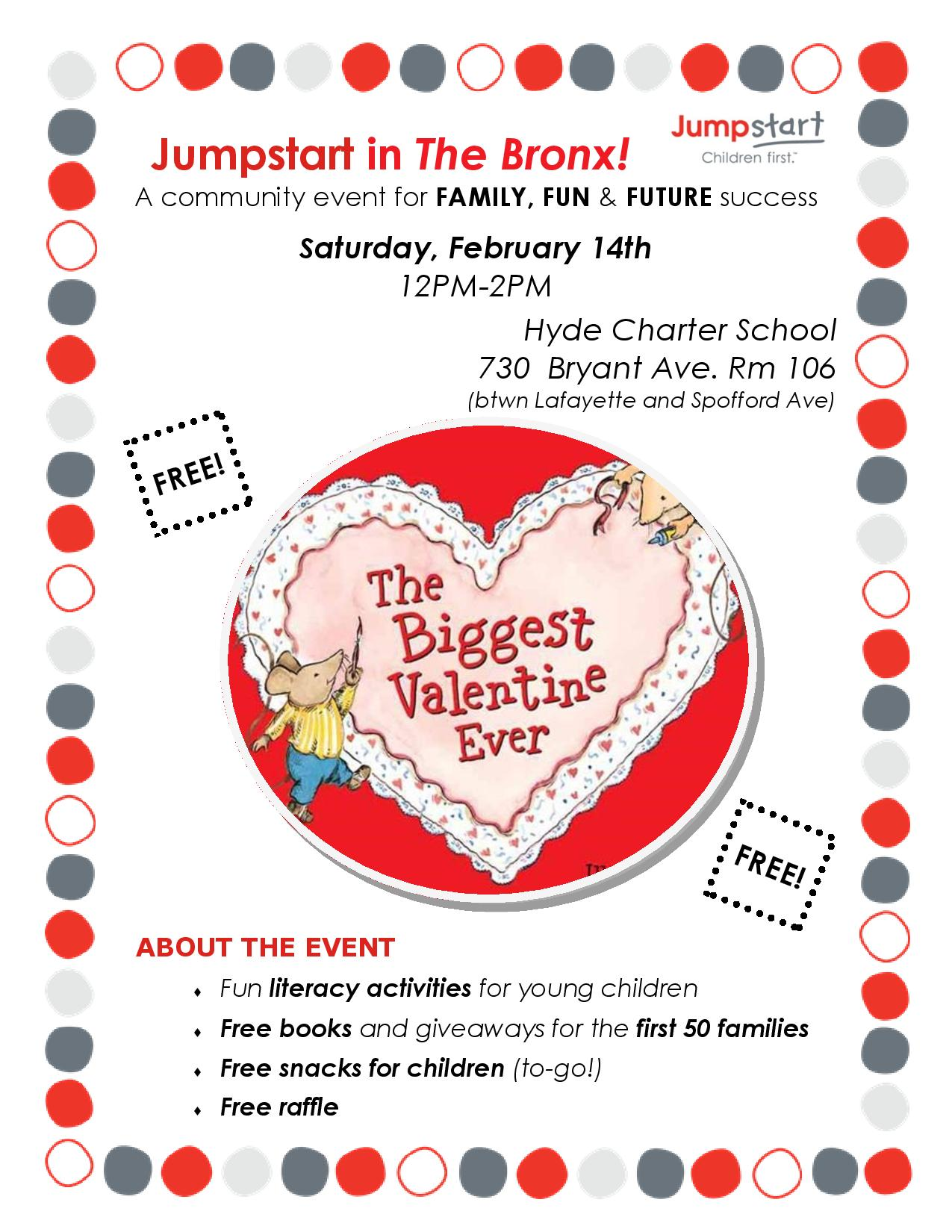 Community Literacy Event for Valentine's Day