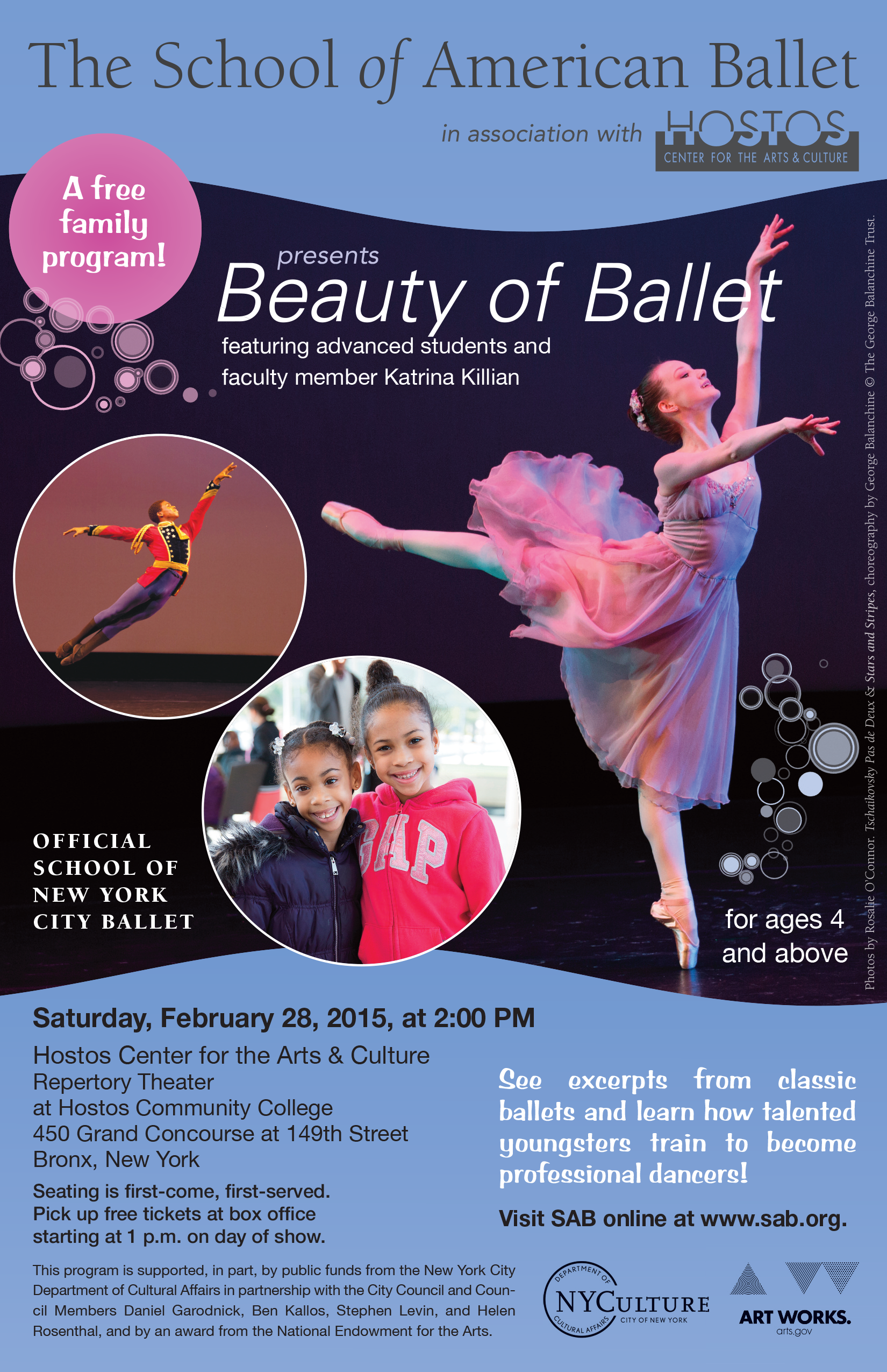 The School of American Ballet to host free program for Bronx-area families