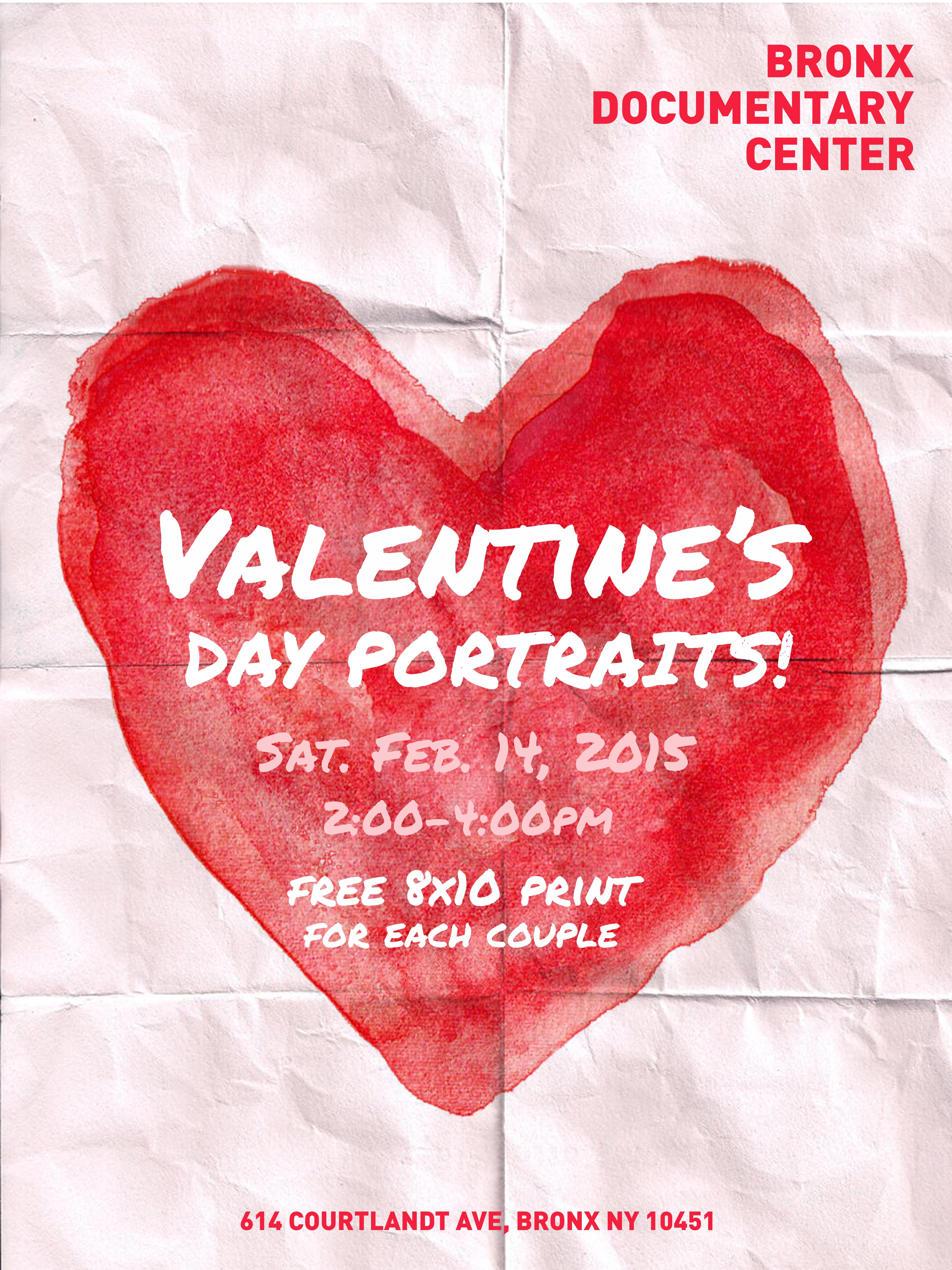 Free Valentine's Day Portraits for Bronx Residents