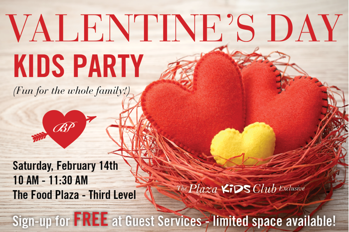 Valentine's Day Kids Party at The Mall at Bay Plaza