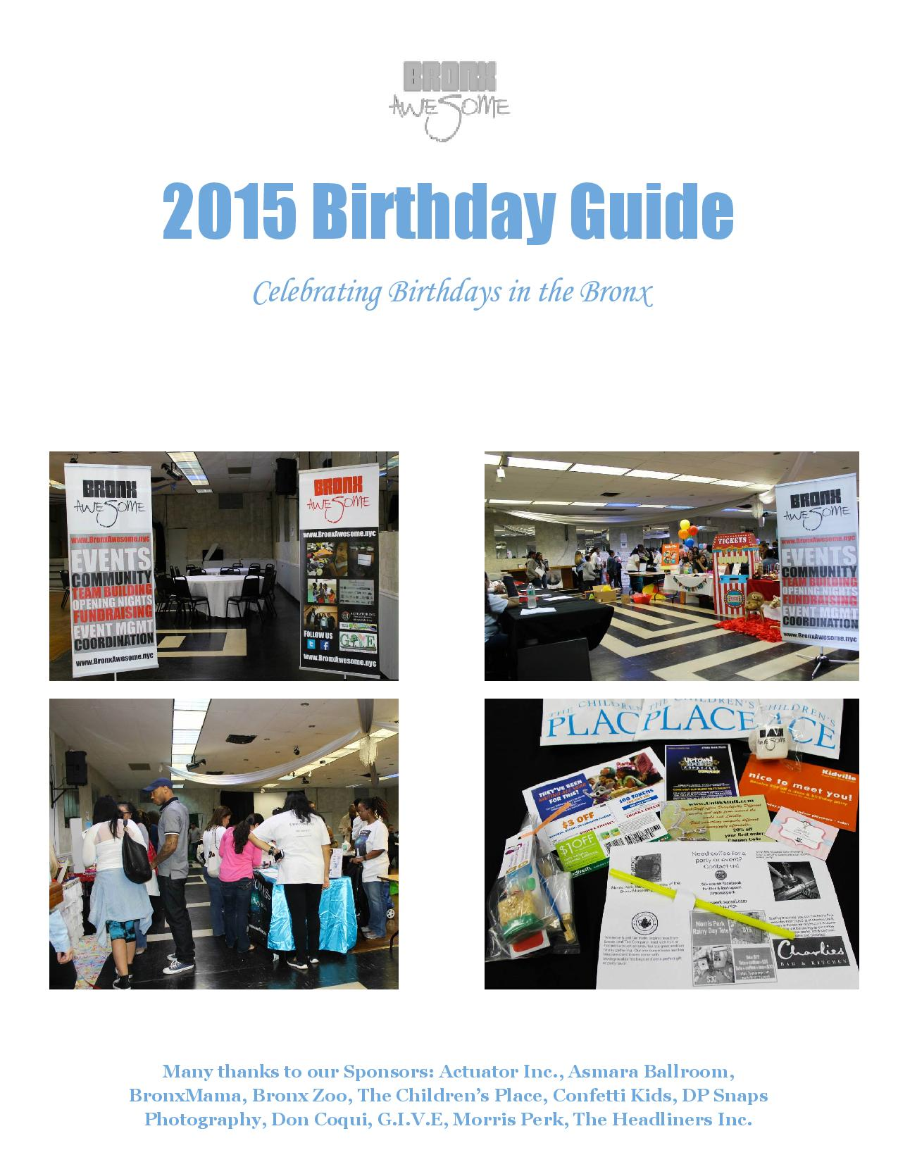 2015 Bronx Awesome Birthday Guide