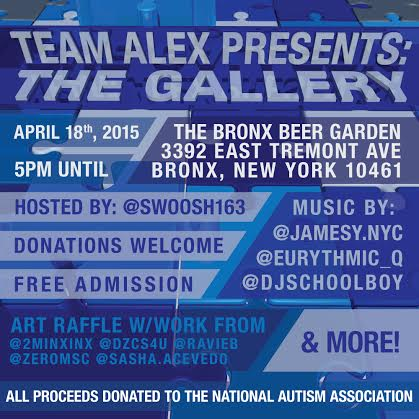 Team Alex Art Fundraiser for National Autism Association
