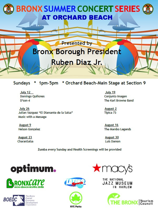 Bronx Summer Concert Series at Orchard Beach 2015