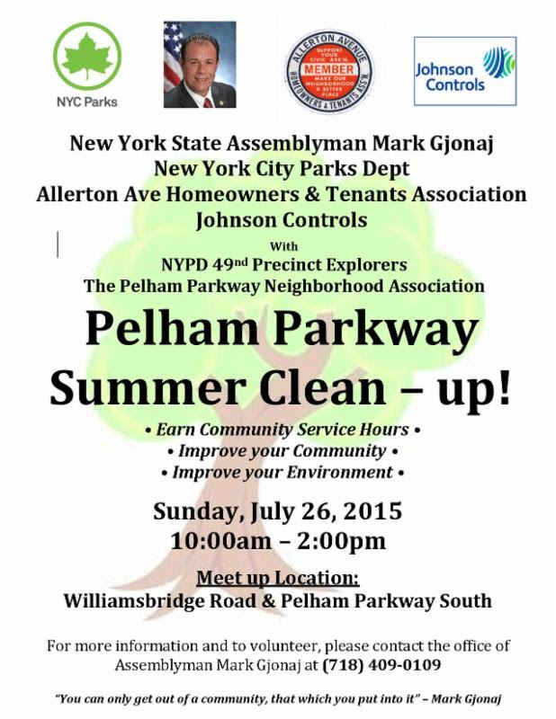 Pelham Parkway Summer Clean Up