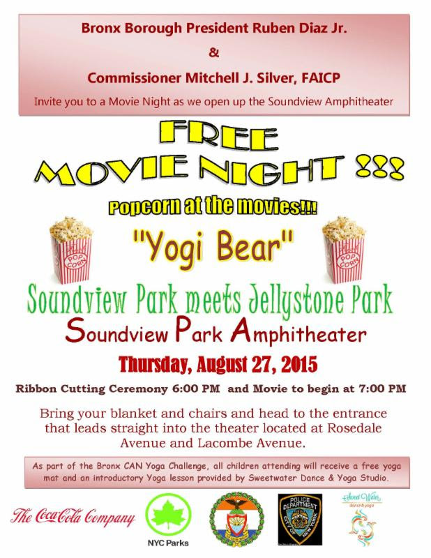 Free Movie Night and Yoga at the New Soundview Park Amphitheater