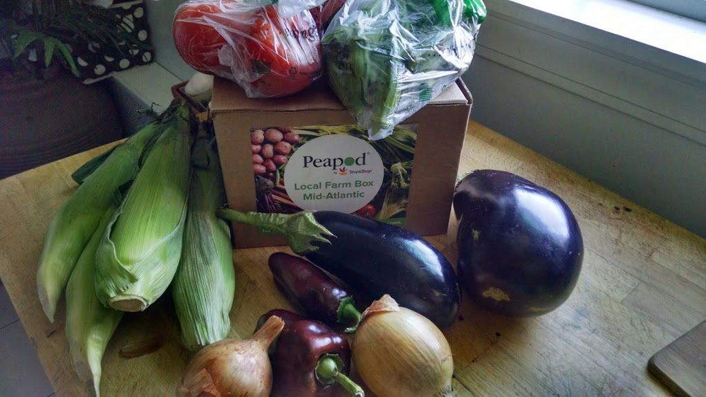 Checking out the Local Farm Box from Peapod