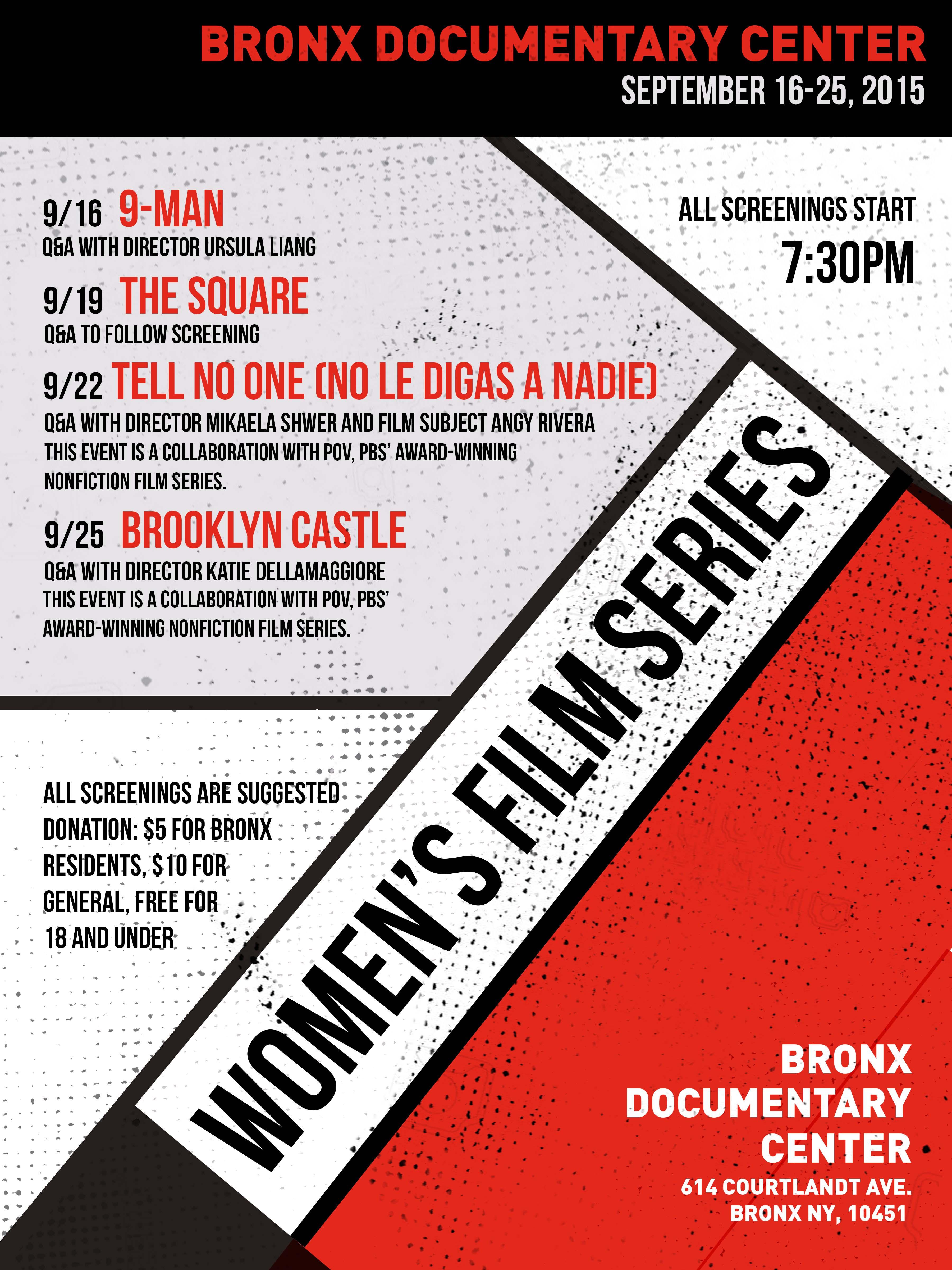 Women's Film Festival at the Bronx Documentary Center
