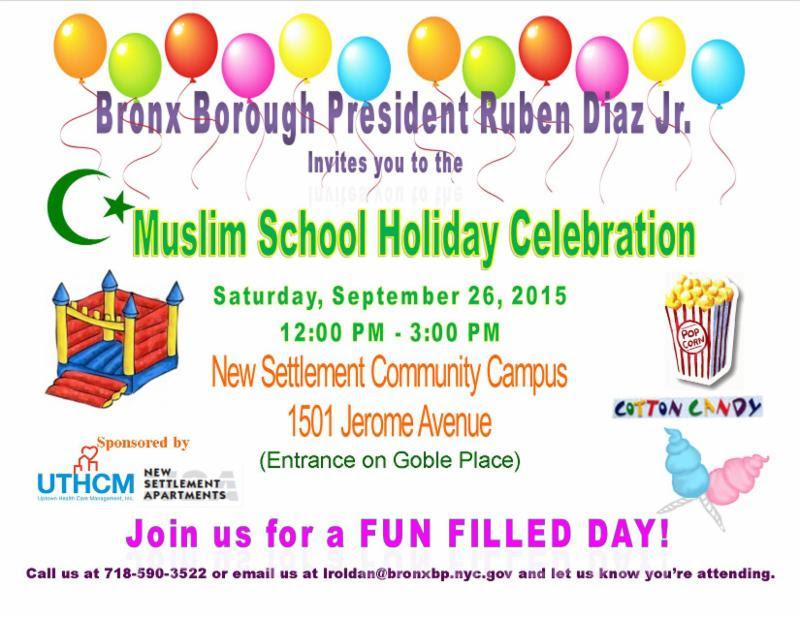 Muslim School Holiday Celebration
