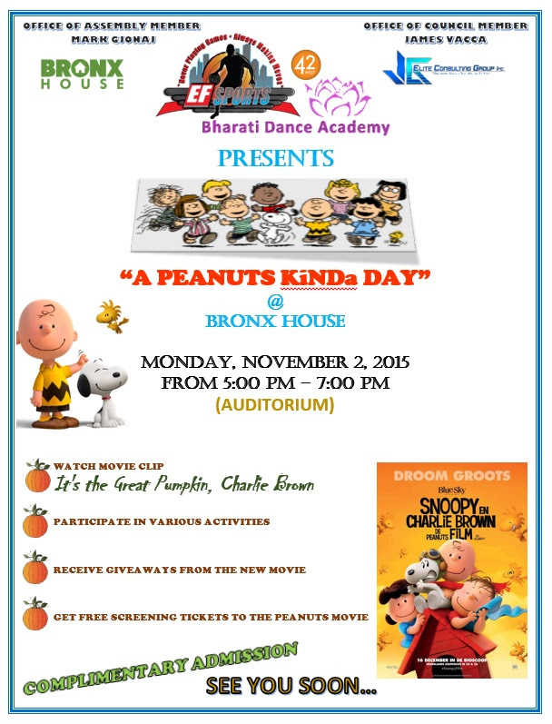 A Peanuts Kinda Day at The Bronx House