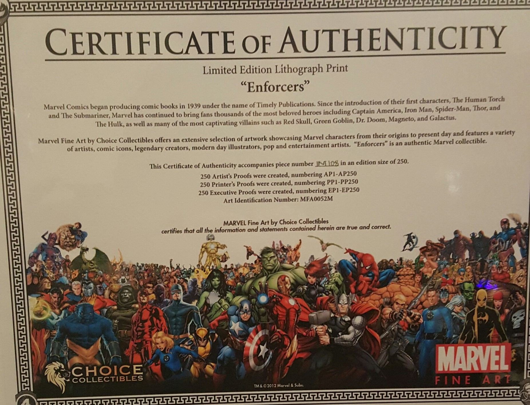 Review + Giveaway: Choice Collectibles Marvel Art