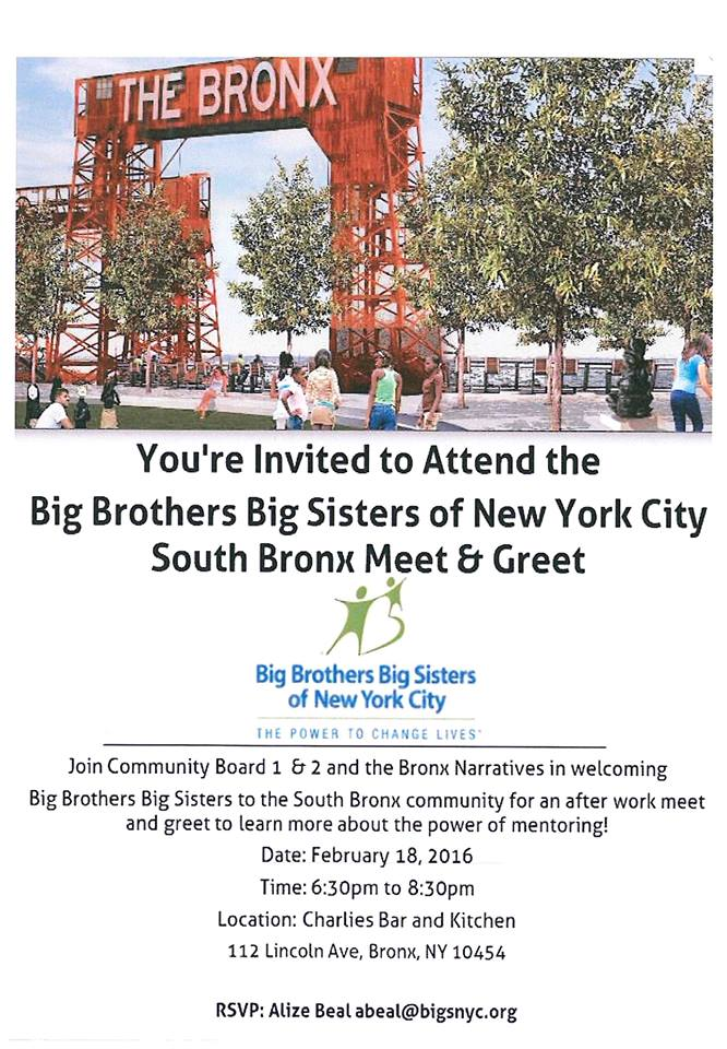 Big Brothers Big Sisters of New York City South Bronx Meet & Greet